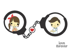You and me with shackle Stock Image