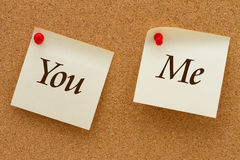 You and Me Stock Photo