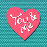 You and me vector Royalty Free Stock Photos