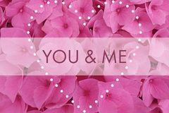 You and me stock illustration