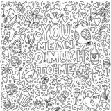 You mean so much to me stock illustration