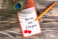 You are mine i am yours Royalty Free Stock Image