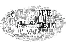 Are You An Mlm Casualty Word Cloud Stock Images