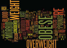 Are You Morbid Obese Word Cloud Concept. Are You Morbid Obese Text Background Word Cloud Concept Stock Image