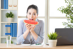 You must try watermelon in southeast asia for summer Stock Images