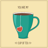 You are my cup of tea Royalty Free Stock Photography