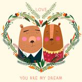 You Are My Dream card in bright colors. Royalty Free Stock Photography