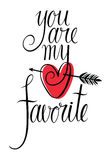 You are my favorite design card Stock Images