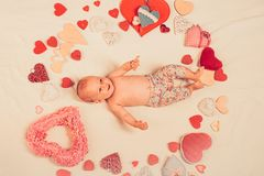 You are my heart. Love. Portrait of happy little child. Sweet little baby. New life and birth. Family. Child care. Small