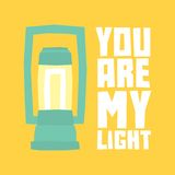 You are my light postcard Stock Photos