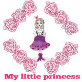 You are my little princess card COVER Royalty Free Stock Images