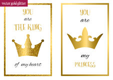 You are my princess. You are the king of my heart. Stock Photo