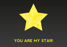 You are my star! card Stock Image