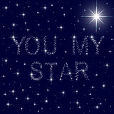 You my star starry blue sky Stock Photo
