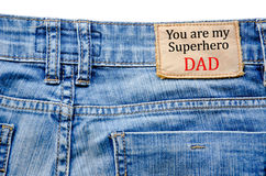 You are my super hero dad. Royalty Free Stock Photography
