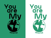 You are My World T shirt Design Stock Photo