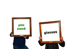 You need glasses Royalty Free Stock Photo