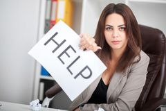 Free You Need Help  The Beautiful Business Woman At Office Asks Of T Royalty Free Stock Image - 105558336