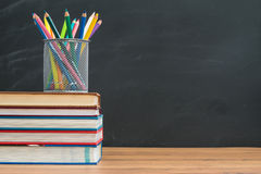 You need to bring watercolor pencil for back to school Royalty Free Stock Photos