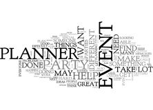 When You Need To Hire An Event Plannerword Cloud Stock Photo