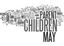When You Need To Protect Your Children From A Parent After A Divorce Word Cloud Royalty Free Stock Photos