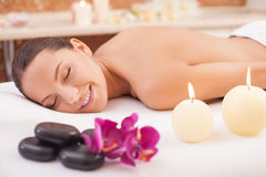 You need to relax and get pleasure Stock Images