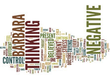 Are You A Negative Thinker Word Cloud Concept Stock Photo