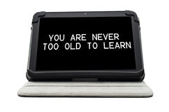 You are never too old to learn Stock Photo