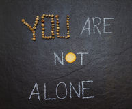 You are not alone. royalty free stock images