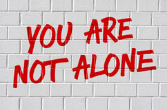 You are not alone Stock Photography