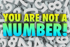 You Are Not a Number Unique Individual Stock Image