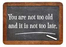You are not too old Stock Photo