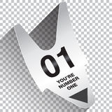 You Are Number One Ticket Concept. For Print or Web Stock Images