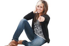 You are the one!, portrait of attractive smile Royalty Free Stock Images