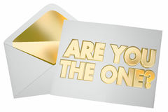 Are You the One Question Envelope Message Picked Selected Royalty Free Stock Images