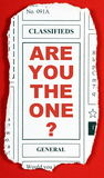 Are You The One?. The question Are You The One? on a newspaper clipping from the classified advertising section Royalty Free Stock Image