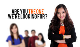 Are you the one we're looking for? Royalty Free Stock Photography