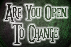 Are You Open To Change Concept Royalty Free Stock Images