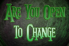 Are You Open To Change Concept Stock Image