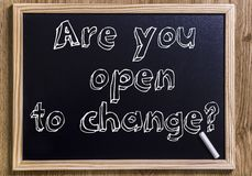 Are you open to change? Royalty Free Stock Photo