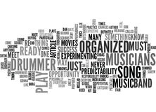 Are You An Organized Drummer Word Cloud Royalty Free Stock Photography