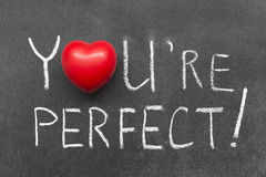 You are perfect Royalty Free Stock Photo
