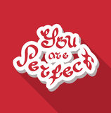 You are perfect hand drawn text Royalty Free Stock Photos