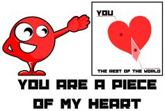 You are a piece of my heart love illustration Royalty Free Stock Photo