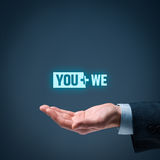 You plus we Royalty Free Stock Images
