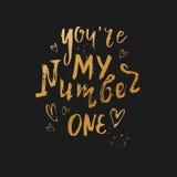 You& x27; ponowny mój numerowy jeden Zdjęcia Stock