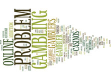 Are You A Problem Gambler Word Cloud Concept Royalty Free Stock Photography