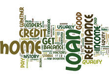 Are You Qualified For A Home Loan Refinance Word Cloud Concept Royalty Free Stock Photos