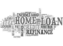 Are You Qualified For A Home Loan Refinance Word Cloud Royalty Free Stock Photo