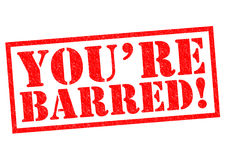YOU`RE BARRED! Royalty Free Stock Photos